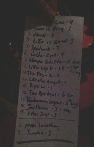 LV Setlist